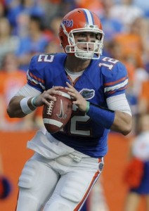 The mobility of John Brantley will be a big factor in the game. (Associated Press)